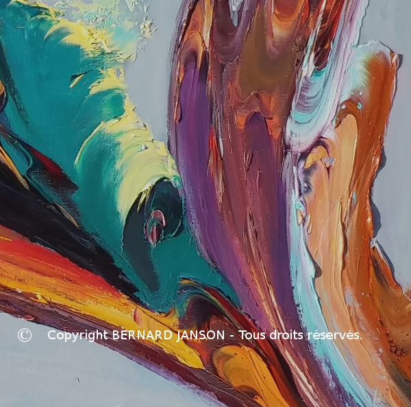 abstract artwork emphasising the turbulent look of the canvas