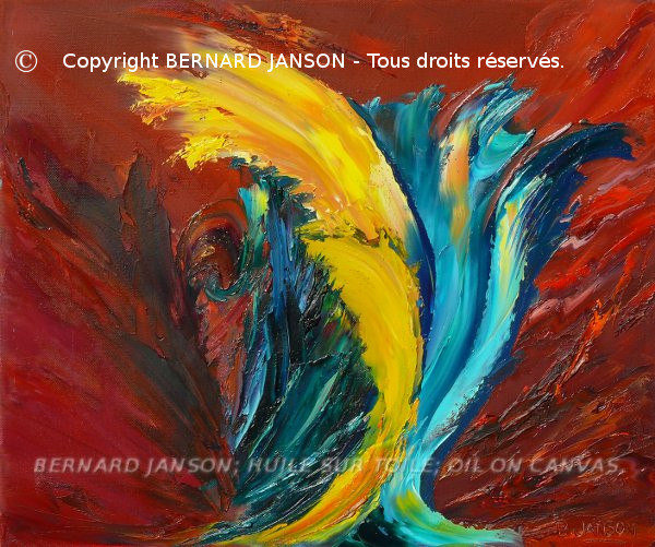 lyrical abstract painting knife; referring to finding emotions