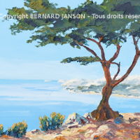 typical provence seascape and seashore