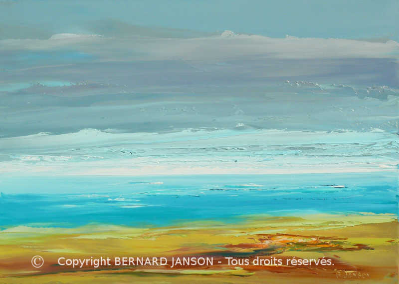 artwork oil on canvas seascape peacefull